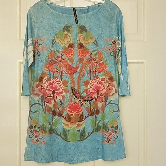 Mushka by Sienna Rose Tops - Beautiful tunic top by Mushka by Sienna Rose, Inc